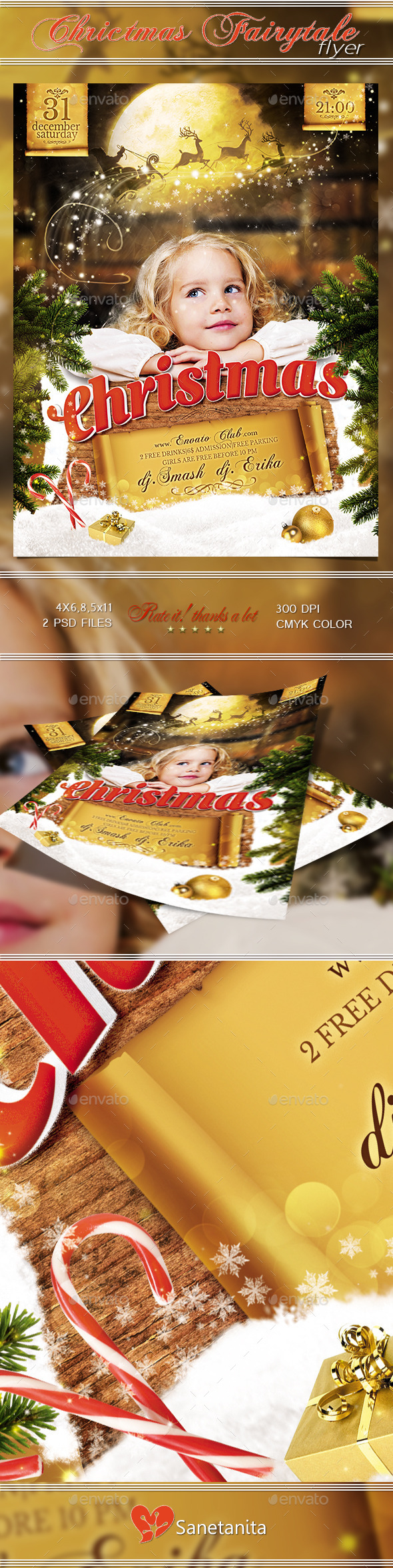 GraphicRiver Christmas Fairytale Flyer 9768289