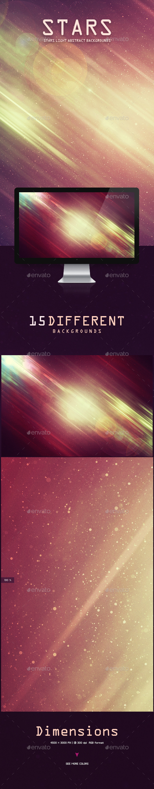 GraphicRiver Stars Light Abstract Backgrounds 9768373