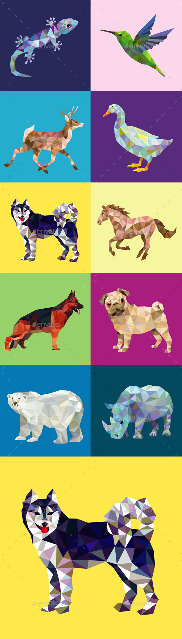GraphicRiver 10 Low Poly Animal Series 2 9768374