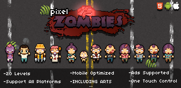 CodeCanyon Pixel Zombies HTML5 Game 9768377