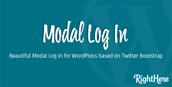Modal Log In for WordPress