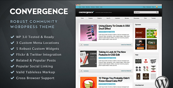 Convergence - Community WordPress Theme - Blog / Magazine WordPress