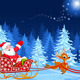 Santa Claus in Sled - GraphicRiver Item for Sale