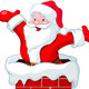 Santa Claus Jumping from Chimney - GraphicRiver Item for Sale