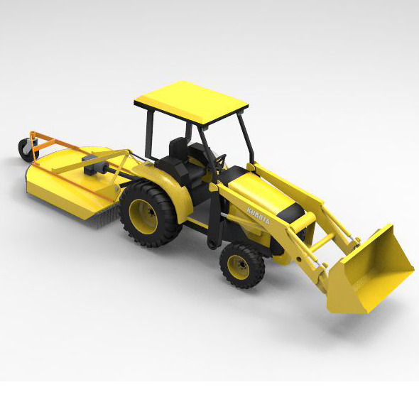Concept Car Kubota Tractor - 3DOcean Item for Sale