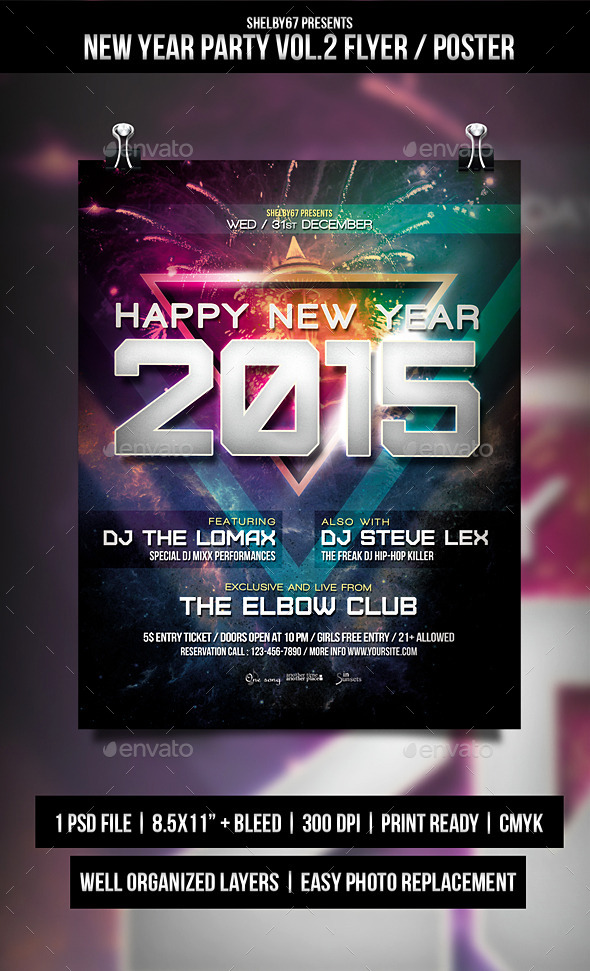 GraphicRiver New Year Party Flyer Poster Vol.2 9698912