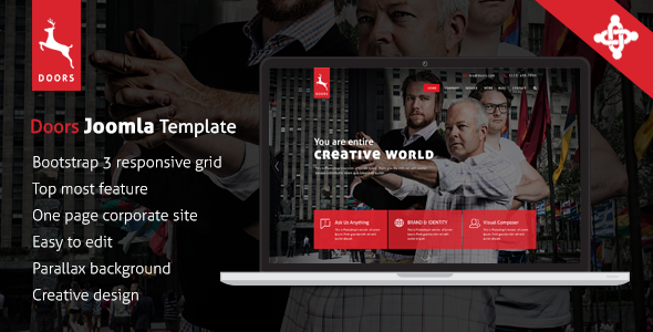 ThemeForest Doors Onepage MultiPurpose Joomla Template 9724026