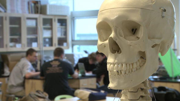Skeleton In Science Class 2 of 3