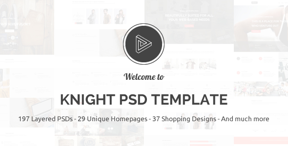ThemeForest Knight Multipurpose PSD Template 9298733