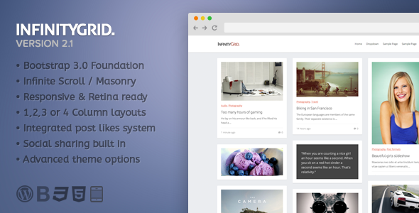 InfinityGrid - An infinite scrolling - personal blogging theme - Personal Blog / Magazine