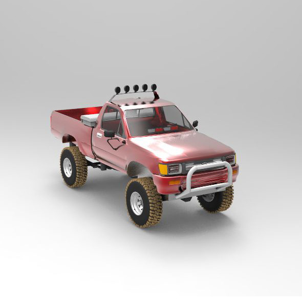 3DOcean Concept Car Toyota Pickup Fire POV 9770207