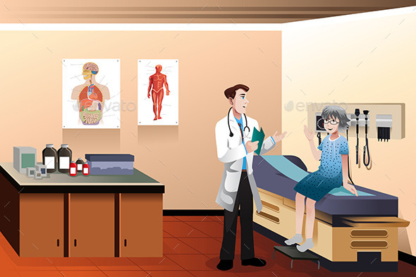 GraphicRiver Doctor Patient in the Clinic 9770233