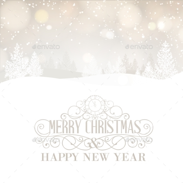 GraphicRiver Merry Christmas Landscape 9770580