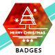 Christmas & New Year Badges Logo Pack