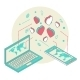 Isometric Illustration for Valentine's Day - GraphicRiver Item for Sale