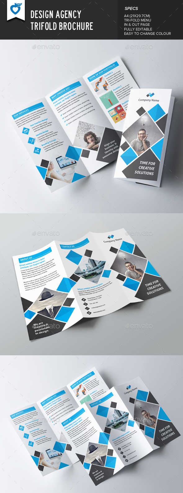 GraphicRiver Design Agency Trifold Brochure 9771792