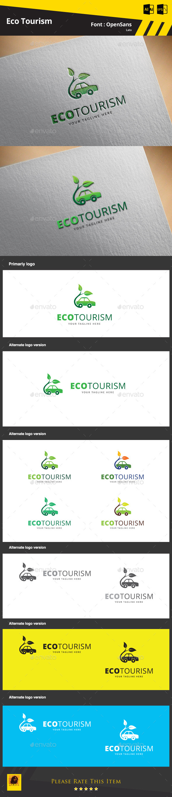 GraphicRiver Eco Tourism Logo Template 9771855