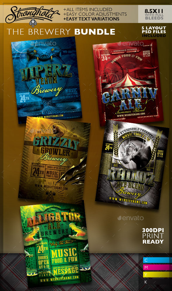 GraphicRiver Vintage Brewery Poster Bundle 9771997