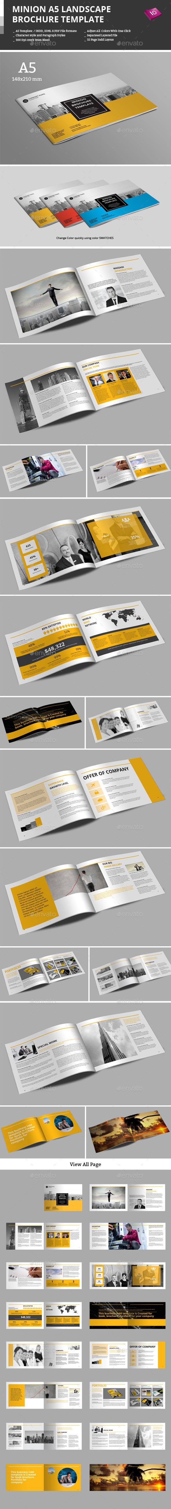 GraphicRiver Minion A5 Landscape Brochure Template 9772203