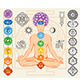 Silhouette of Man with Chakras - GraphicRiver Item for Sale