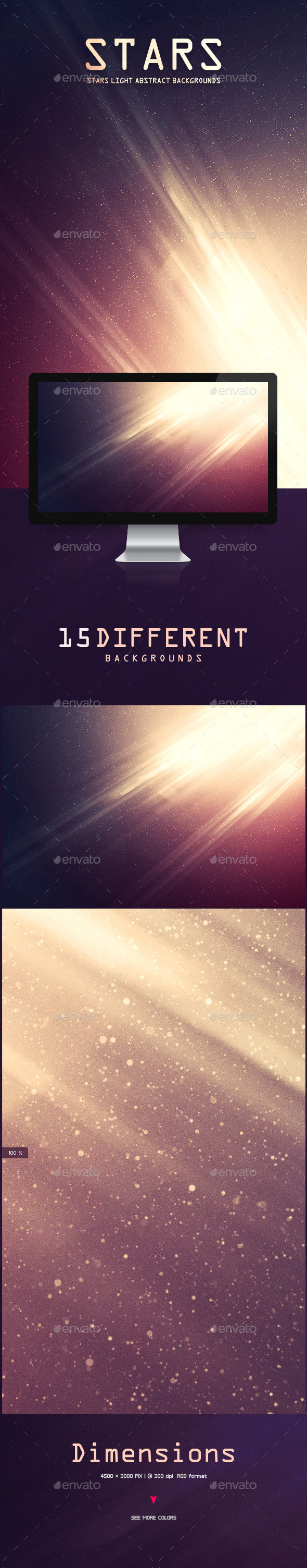 GraphicRiver Stars Light Abstract Backgrounds 9772214
