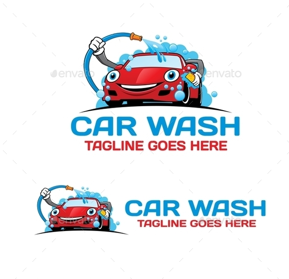 Cartoon Car Wash Logo
