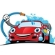 Cartoon Car Wash Logo - GraphicRiver Item for Sale