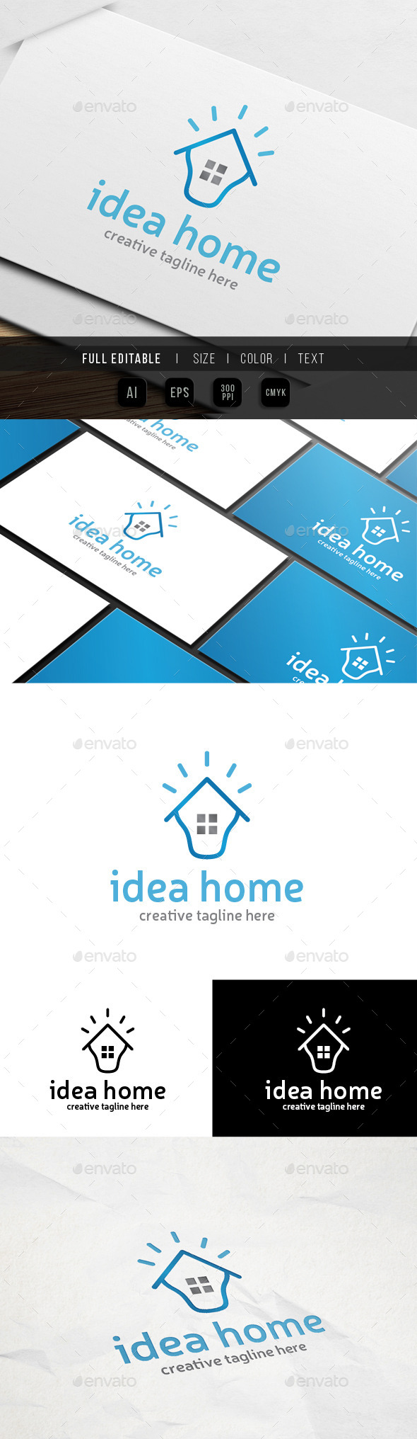 GraphicRiver Idea Home Logo 9772740