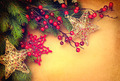 Christmas vintage background with retro styled baubles - PhotoDune Item for Sale