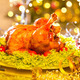 Christmas table setting with turkey. Holiday Christmas dinner - PhotoDune Item for Sale