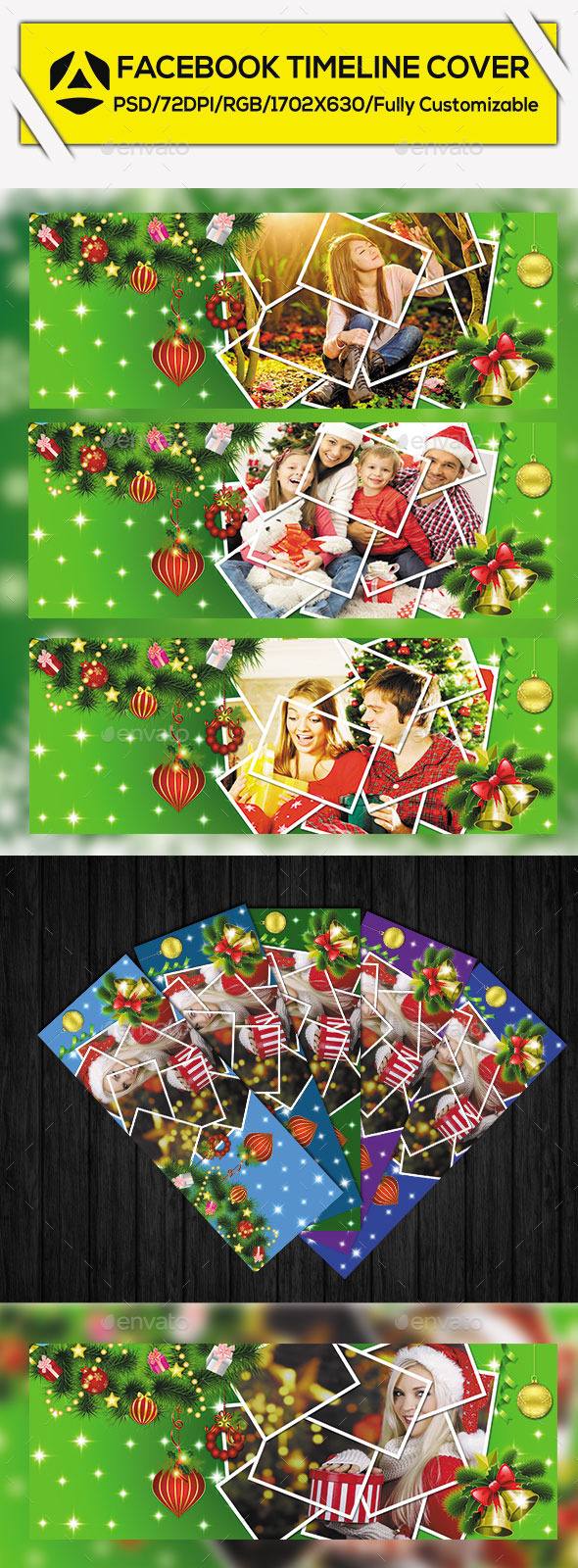 GraphicRiver Christmas Facebook Timeline Cover Vol 2 9773864