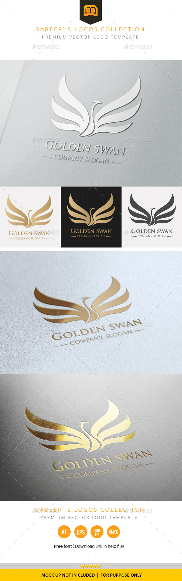 GraphicRiver Golden Swan 9773869