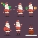 Santa Claus Cartoon Characters Set Poses Emotions  - GraphicRiver Item for Sale