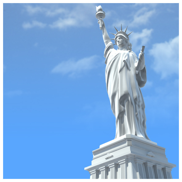America Liberty Statue - 3DOcean Item for Sale
