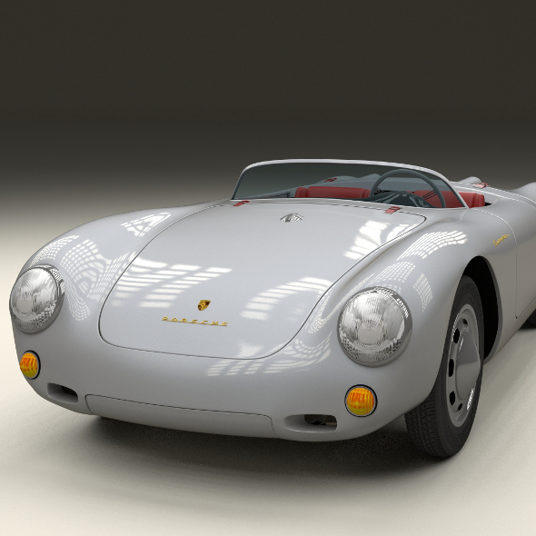 Porsche 550 Spyder - 3DOcean Item for Sale