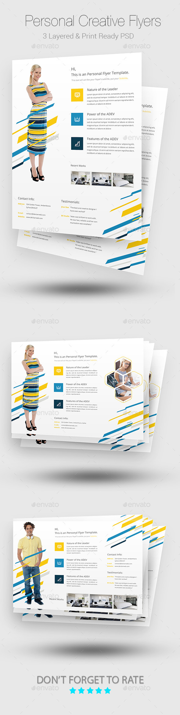 GraphicRiver Creative Personal Flyer Templates 9719757