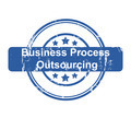 Business Process Outsourcing concept stamp - PhotoDune Item for Sale