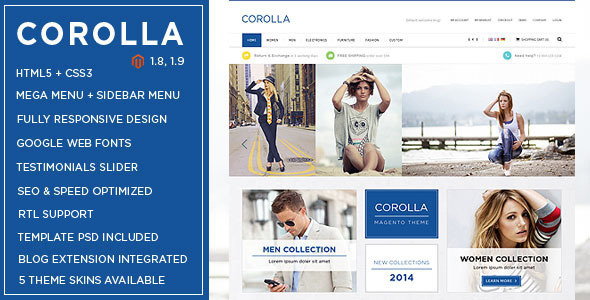 Corolla - Responsive Multipurpose Magento theme