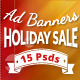 Holiday Web Ad Banners Vol2 - GraphicRiver Item for Sale