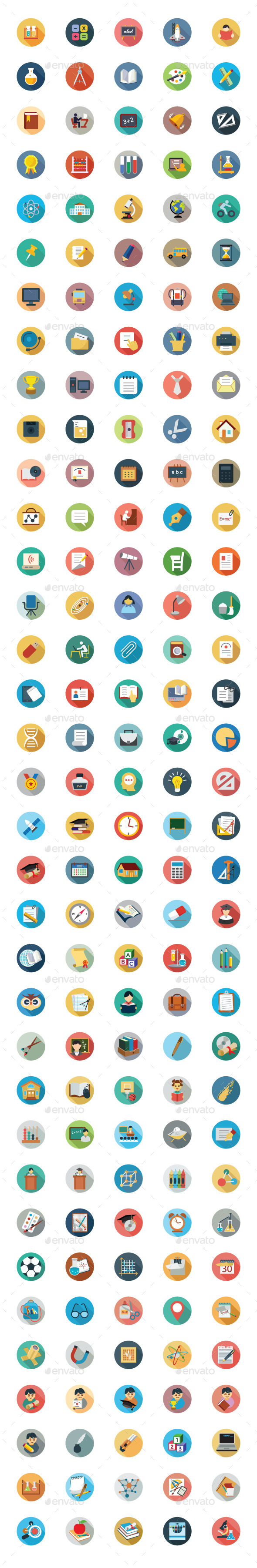GraphicRiver 175 Education Vector Icons 9774828