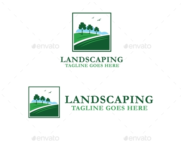 GraphicRiver Landscaping Logo 9774893