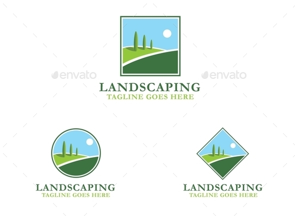GraphicRiver Landscaping Logo 9774931