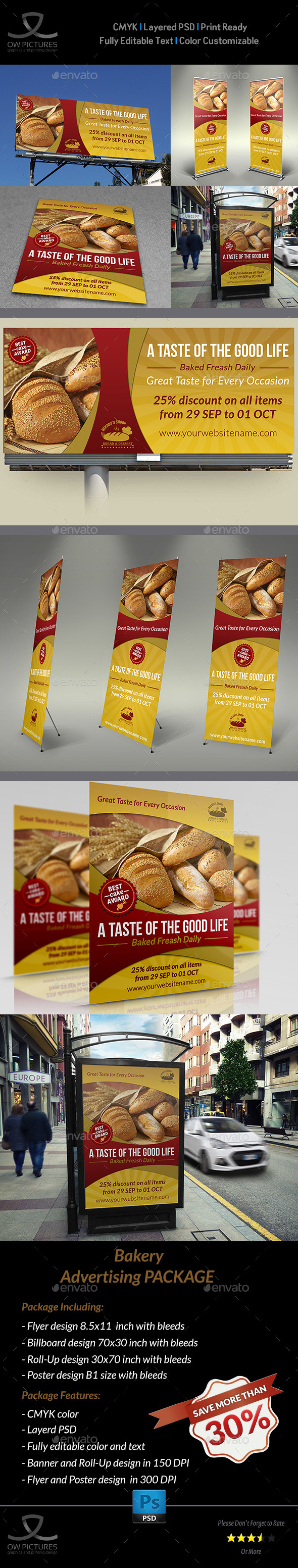 GraphicRiver Bakery Advertising Bundle 9775110