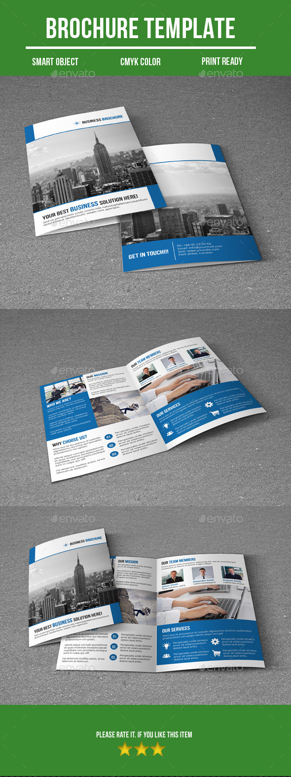 GraphicRiver Bi fold Business Brochure 9775138
