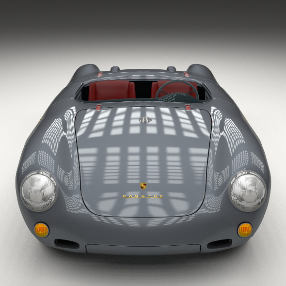 Porsche 550 Spyder gray - 3DOcean Item for Sale
