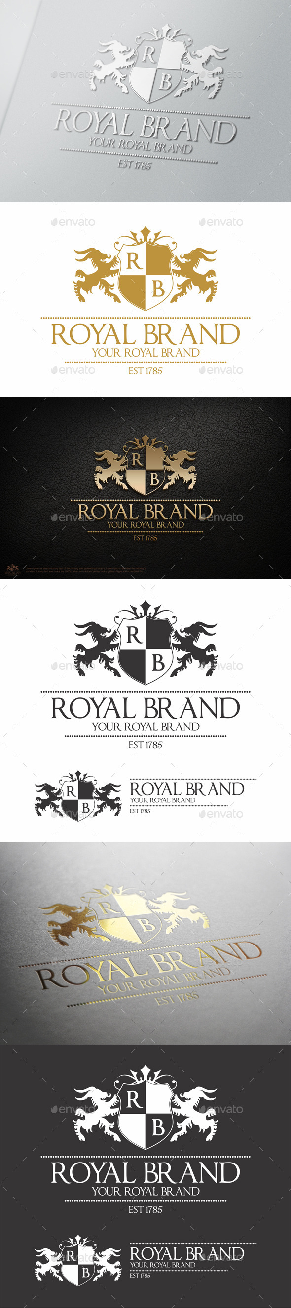 GraphicRiver Heraldic Royal Brand Crest Logo 9775442