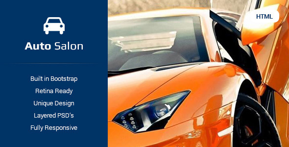 ThemeForest Auto Salon Car Dealer HTML5 Template 9728980