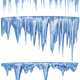 set of hanging thawing icicles of a blue shade - PhotoDune Item for Sale