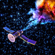 falling artificial satellite has burned up - PhotoDune Item for Sale