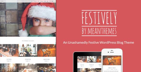 Festively: An Unashamedly Festive Blog Theme